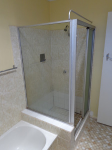 The old shower.